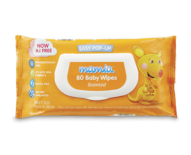 Mamia Baby Wipes 80pk Scented
