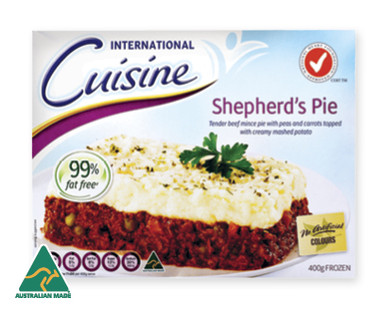 Aldi international cuisine shepherd 39 s pie 400g compare club for Aldi international cuisine