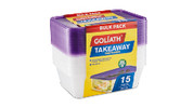 Takeaway Containers 15pk