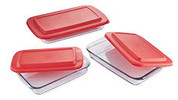 Glass Roasting Dish 3 Piece Set