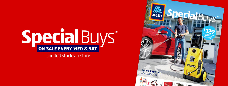 ALDI special buys™ new range every Wednesday and Saturday