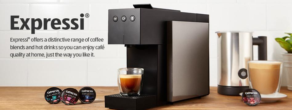 expressi coffee capsule system exclusive to aldi aldi. Black Bedroom Furniture Sets. Home Design Ideas
