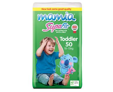 Mamia Toddler Unisex Nappies 10-15kg 50pk