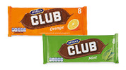 Assorted Club Biscuits Bars 8pk/176g