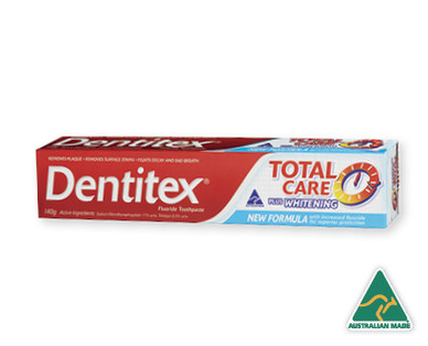 Dentitex Total Care Plus Whitening Toothpaste 140g