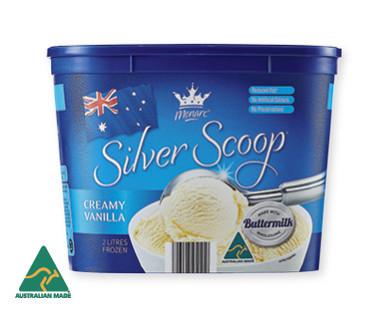 Monarc Silver Scoop Vanilla Ice Cream 2L