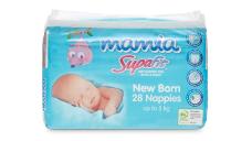 Mamia Unisex Nappies Newborn - Up to 5kg 28pk