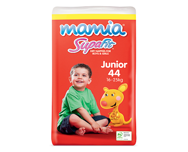 Mamia Unisex Junior Nappies 16-25kg 44pk