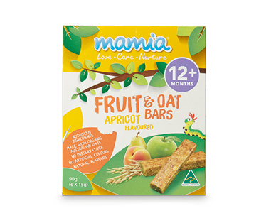 Mamia Fruit & Oat Bars 90g - Apricot 12+ Months