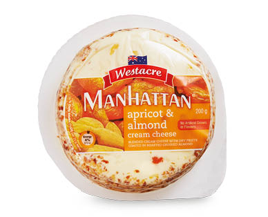 Westacre Manhattan Apricot & Almond Infused Cream Cheese 200g