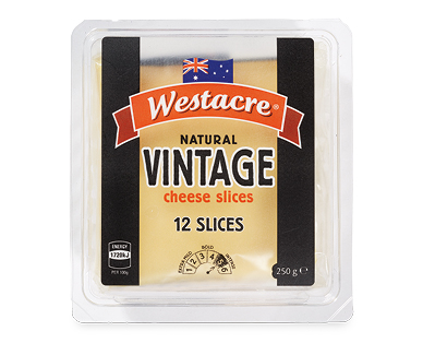 Westacre Vintage Cheese Slices 12pk/250g
