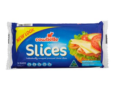 Cowbelle Original Cheese Slices 24pk/500g