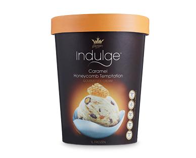 Monarc Indulge Caramel Honeycomb Temptation Gourmet Ice Cream 1L