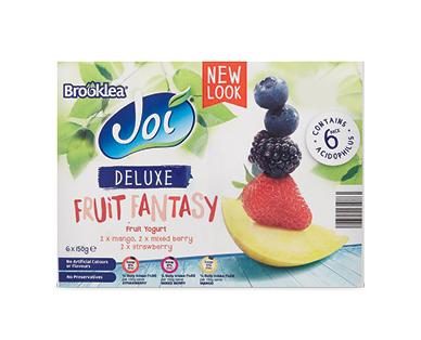 Brooklea Joi Deluxe Fruit Fantasy Yoghurt 6 x 150g