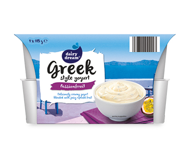 Dairy Dream Greek Style Passionfruit 4 x 115g