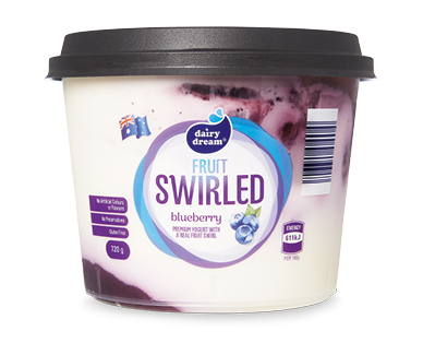 Dairy Dream Blueberry Fruit Swirled Yogurt 720g