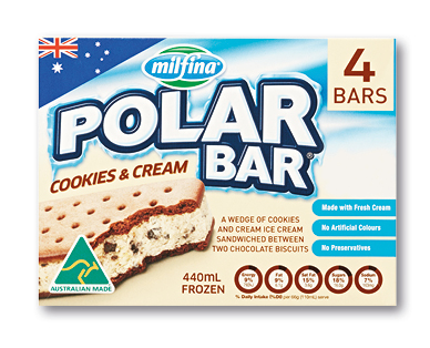 Milfina Polar Bar cookies and cream 4pk/440ml