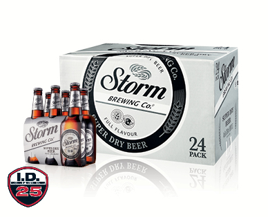 Storm Brewing Co. Premium Super Dry Beer 24 x 330ml or 6 x 330ml
