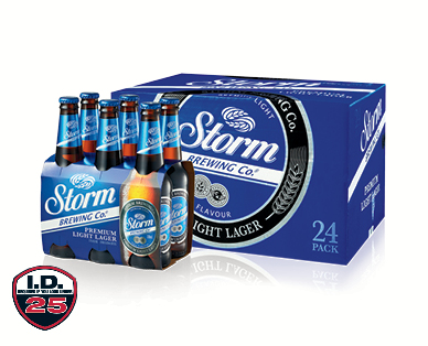 Storm Brewing Co. Premium Light Lager 24 x 330ml or 6 x 330ml