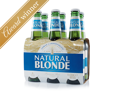 Cape Cyan Natural Blonde Beer 6 x 330mL