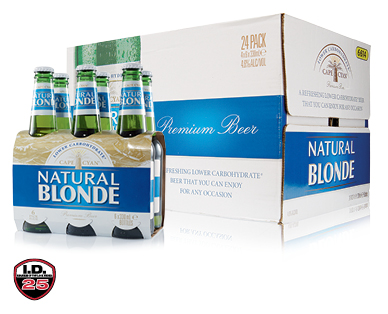 Cape Cyan Natural Blond Low Carb  Beer 24 x 330ml or 6 x 330ml
