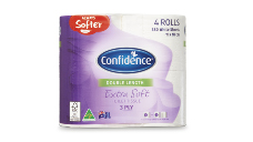 Confidence Double Length Extra Soft 3ply Toilet Tissue 4pk