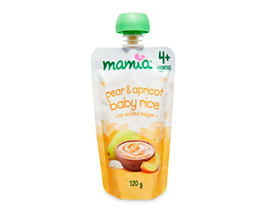 Mamia Baby's First Breakfast 4 Months+ 120g - Baby Rice, Pear and Apricot