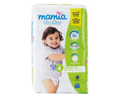 MAMIA® Unisex Toddler Nappies 10kg-15kg 50pk