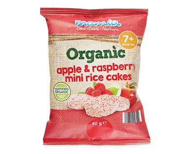 Mamia Organic Raspberry Mini Rice Cakes 40g