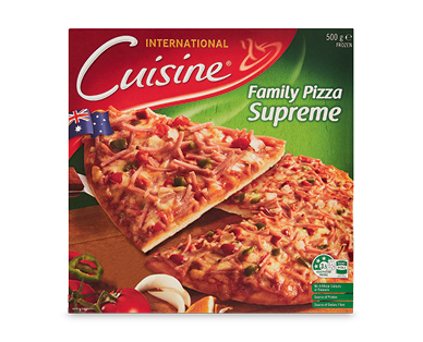 International Cuisine Supreme Family Pizza 500g