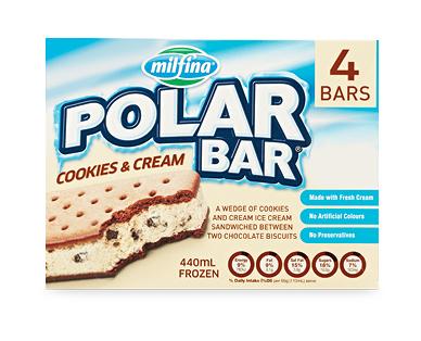 Milfina Polar Bar Cookies & Cream 4pk/440ml