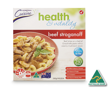 Health & Vitality Beef Stroganoff 280g