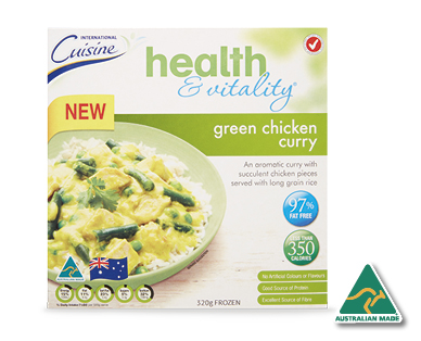 Health & Vitality Green Chicken Curry 320g