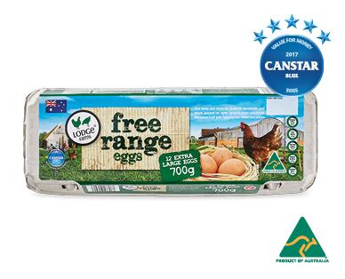 Lodge Farms Free Range Eggs 12pk 700g