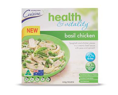 Aldi international cuisine health vitality basil chicken for Aldi international cuisine