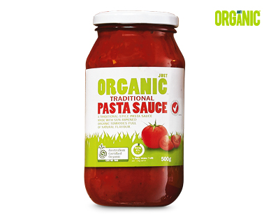 Just Organic Traditional Pasta Sauce 500g