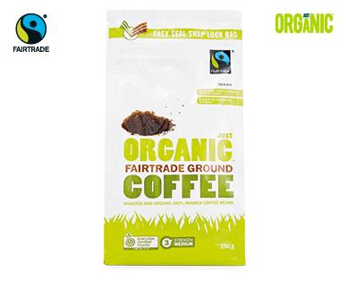 Just Organic Fairtrade Ground Coffee 250g