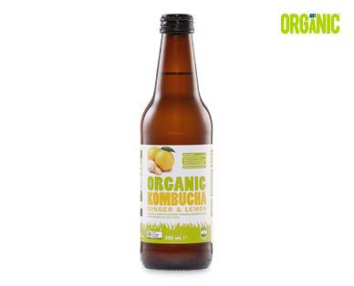 Just Organic Kombucha – Ginger & Lemon 330ml