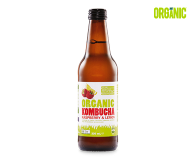 Just Organic Kombucha – Raspberry & Lemon 330ml