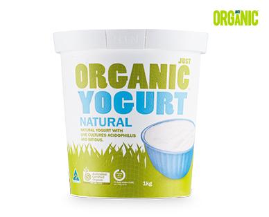 Just Organic Natural Yogurt 1kg