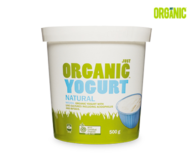 Just Organic Natural Yogurt 500g