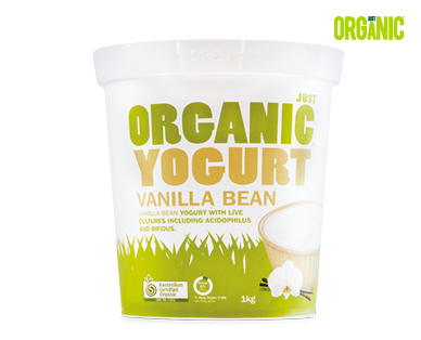 Just Organic Vanilla Bean Yogurt 1kg