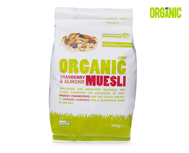 Just Organic Almond, Fig & Cranberry Muesli 500g