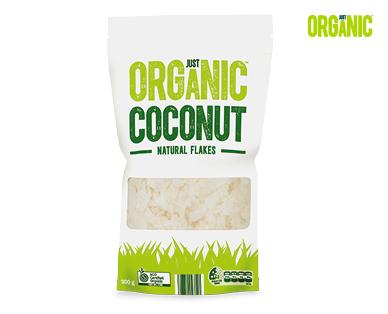 Just Organic Natural Coconut Flakes 200g