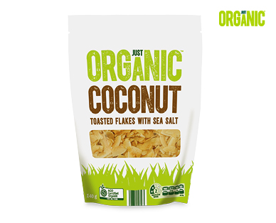 Just Organic Toasted Coconut Flakes with Sea Salt 140g