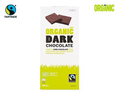 Just Organic Dark Chocolate 100g