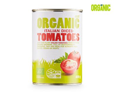 Just Organic Italian Diced Tomatoes 400g