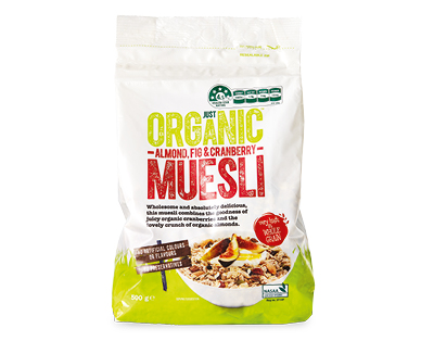 Just Organic Muesli Almond, Fig & Cranberry 500g