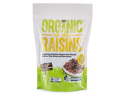 Just Organic Sun-Dried Muscat Raisins 375g