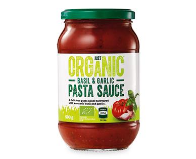 Just Organic Basil & Garlic Pasta Sauce 500g